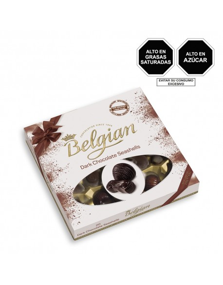 BELGIAN DARK CHOCOLATE SEASHELLS