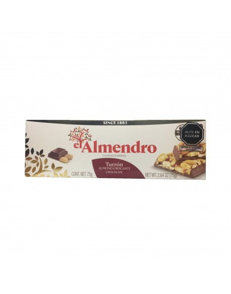 Turrón Crocante c/ Chocolate 75g El Almendro